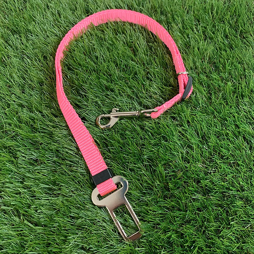 Pet Adjustable Seat Belt, Pink skinny