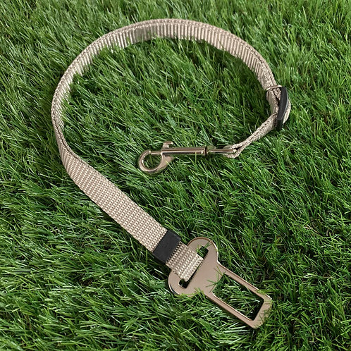 Pet Adjustable Seat Belt, Sand Shark Gray skinny