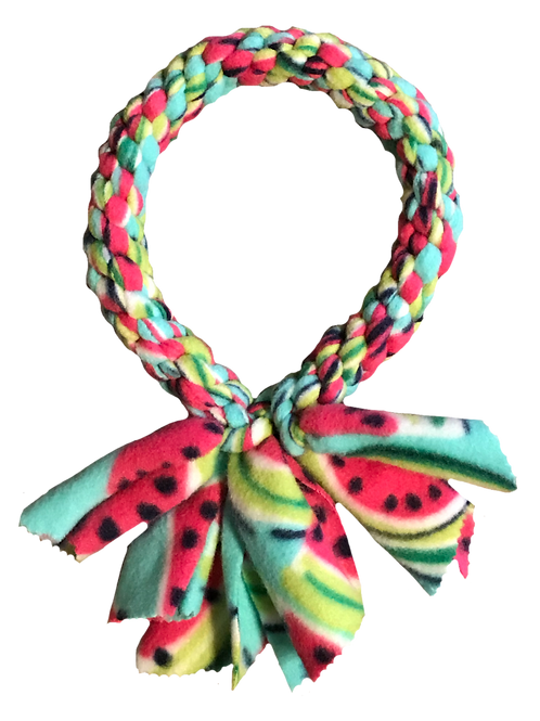 Ring Fleece Knotted Tug Dog Toy, Watermelon