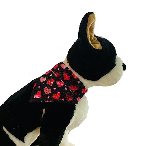 Valentine's Day Over-the-Collar Dog Bandana