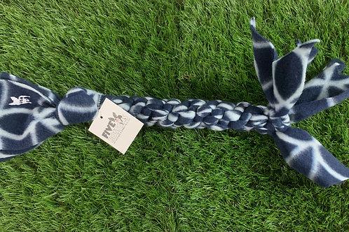 Fleece Knotted Tug Dog Toy, Barefoot Blue