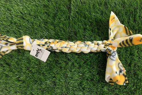 Fleece Knotted Tug Dog Toy, Bumblebees