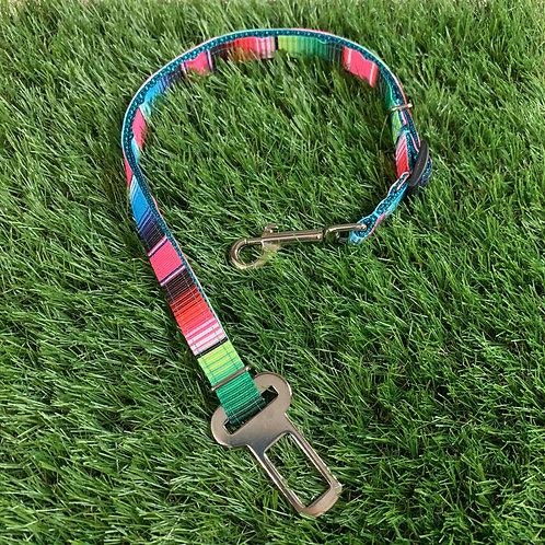 Pet Adjustable Seat Belt, Summer Serape skinny