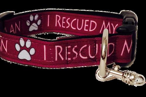 I Rescued My Human Adjustable Dog Collar