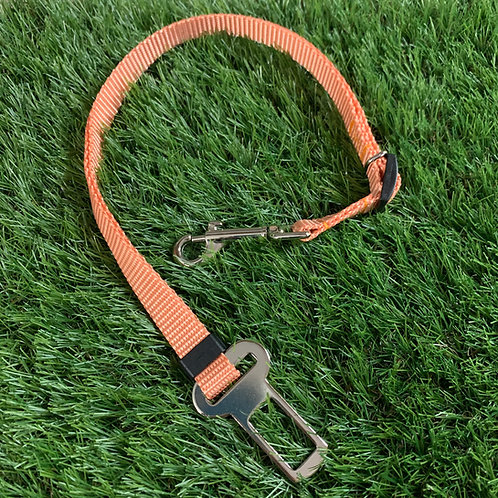 Pet Adjustable Seat Belt, Coral Cove skinny