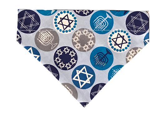 Hanukkah Over-the-Collar Dog Bandana