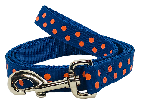 Orange Polka Dots Dog Leash