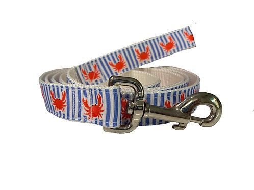 Preppy Crabs Dog Leash