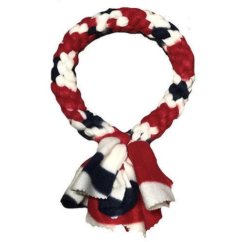 Ring Fleece Knotted Tug Dog Toy, Patriotic