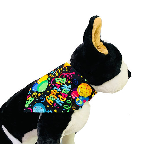 Happy Woofday Over-the-Collar Dog Bandana
