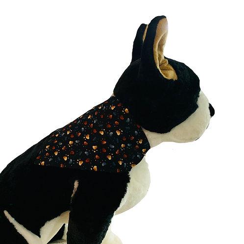 Heart Paws Over-the-Collar Dog Bandana