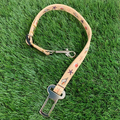 Pet Adjustable Seat Belt, Day at the Beach skinny