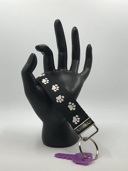 Paw Prints Key Fob Wristlet Keychains