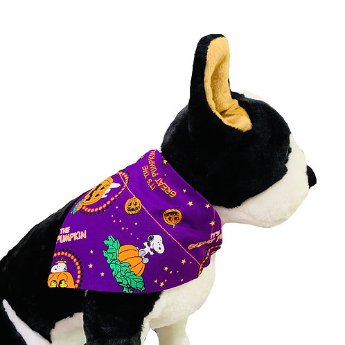 Halloween Peanuts Great Pumpkin Over-the-Collar Dog Bandana