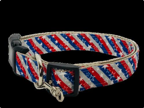 Stars and Stripes Adjustable Dog Collar