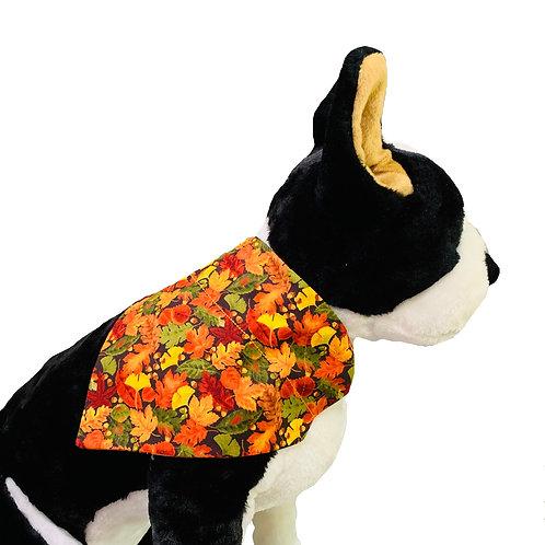 Fall Leaves Over-the-Collar Dog Bandana