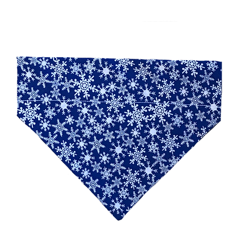 Winter Frost Snowflakes Over-the-Collar Dog Bandana