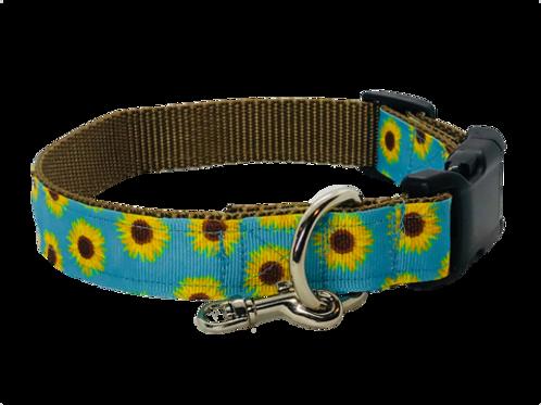 Sunflowers Adjustable Dog Collar