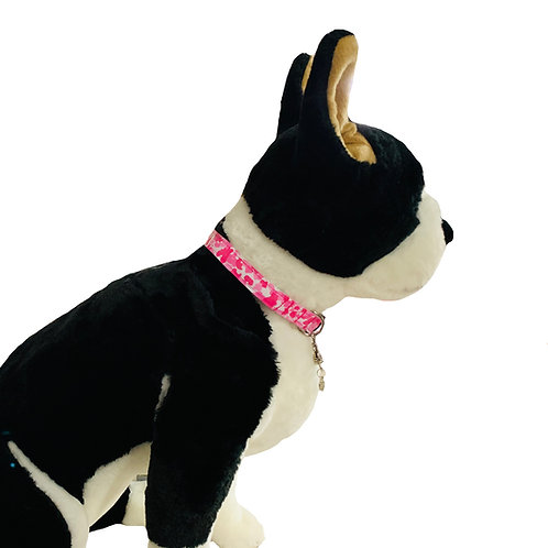Pink Camo Adjustable Dog Collar