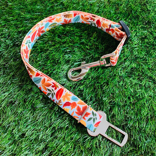 Pet Adjustable Seat Belt, Fall Leaves