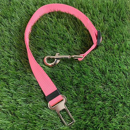 Pet Adjustable Seat Belt, Pink