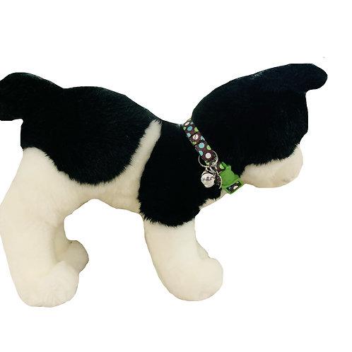 Breakaway Polka Dots Cat Collar, Green