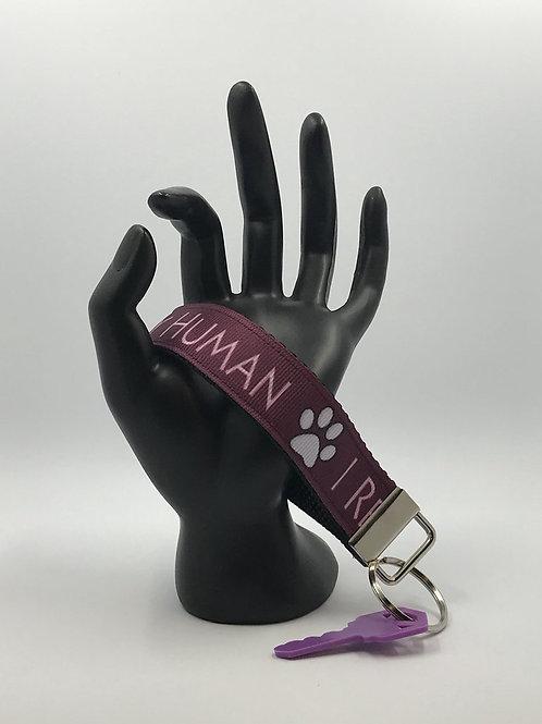 Rescued My Human Key Fob Wristlet Keychains