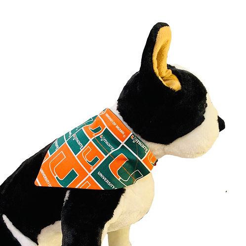 University of Miami Over-the-Collar Dog Bandana, Reve