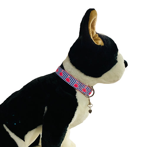 Preppy Whales Adjustable Dog Collar