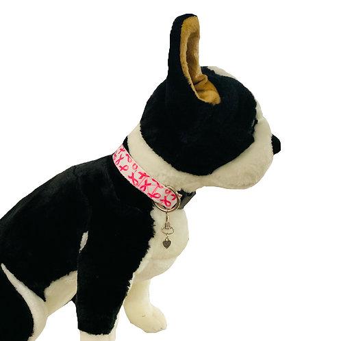 Woof for Awareness Adjustable Dog Collar