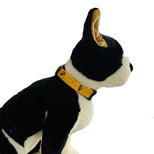 Bumble Bees Adjustable Dog Collar