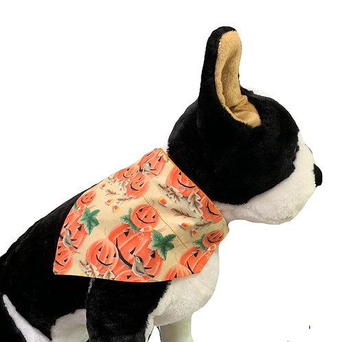 Fall Pumpkins Over-the-Collar Dog Bandana