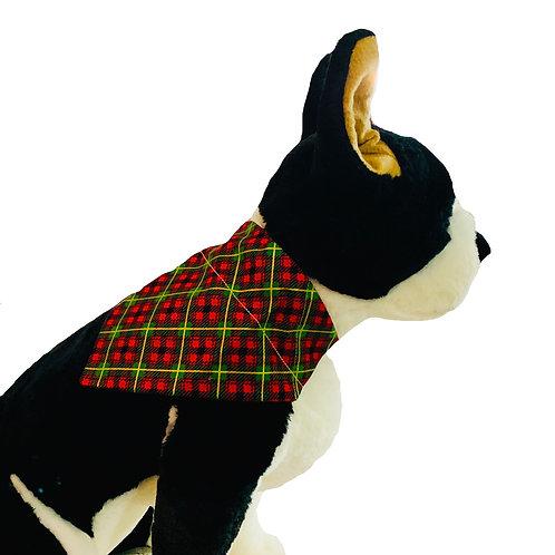 Winter Wonderland Plaid Over-the-Collar Dog Bandana