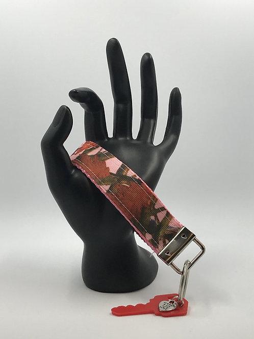 Pink Tree Camo Key Fob Wristlet Keychains