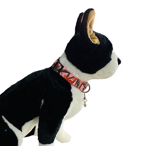 Pink Tree Camo Adjustable Dog Collar