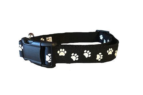 Paw Print Adjustable Dog Collar
