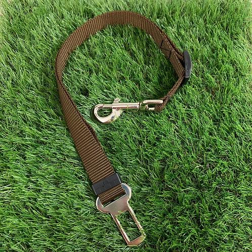 Pet Adjustable Seat Belt, Brown