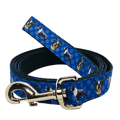 Boston Terrier Lovers Dog Leash, Blue