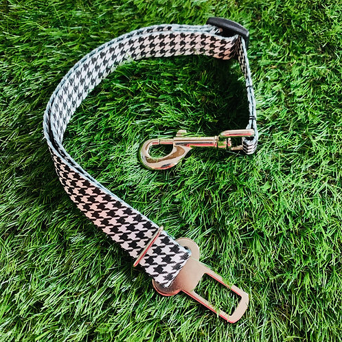 Pet Adjustable Seat Belt, Houndstooth