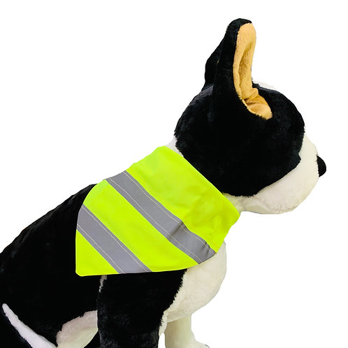 Reflective Neon Yellow Visibility Over-the-Collar Dog Bandana