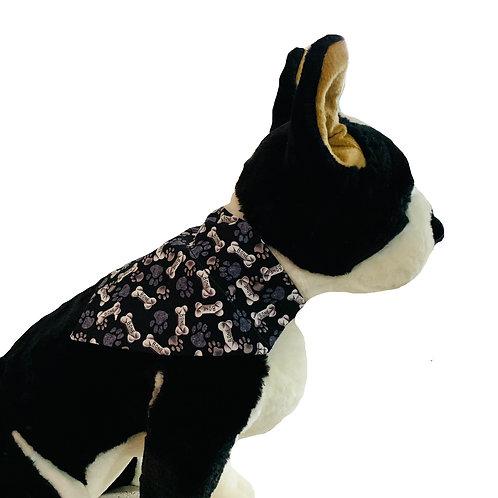 Puppy Bones Over-the-Collar Dog Bandana