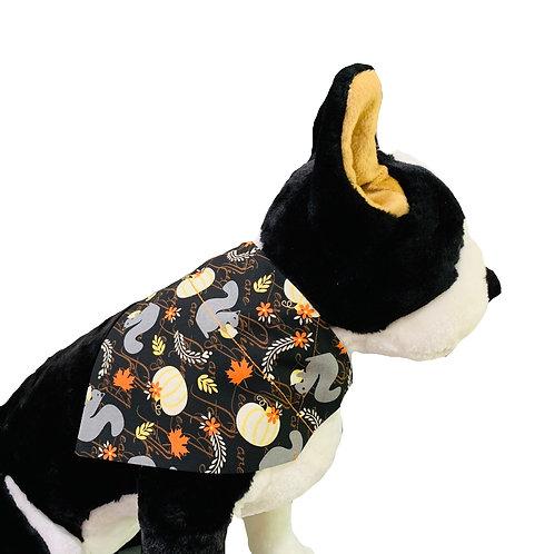 Fall Squirrels Over-the-Collar Dog Bandana