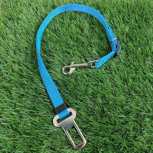 Pet Adjustable Seat Belt, Coastal Blue skinny