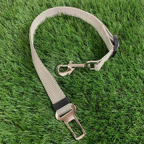 Pet Adjustable Seat Belt, Sand Shark Gray