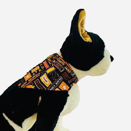 Halloween Trick or Treat Over-the-Collar Dog Bandana