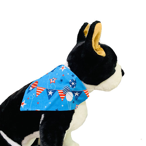 Patriotic Over-the-Collar Dog Bandana