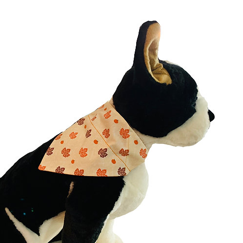 Fall Autumn Harvest Over-the-Collar Dog Bandana