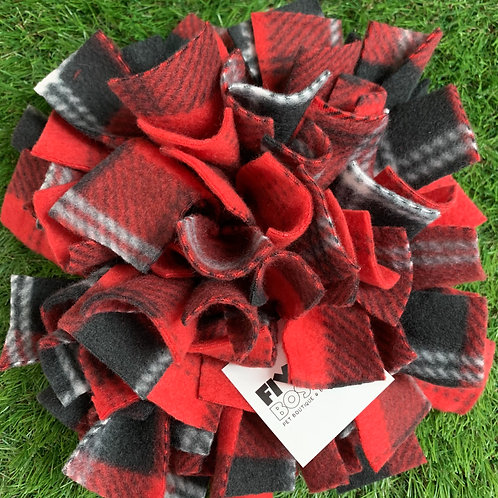 Snuffle Mat Treat Puzzle Dog Toy, Red Plaid
