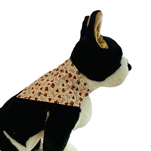All You Need is Love Over-the-Collar Dog Bandana