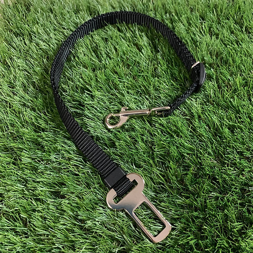 Pet Adjustable Seat Belt, Black skinny